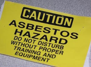 Medium air asbestos sticker