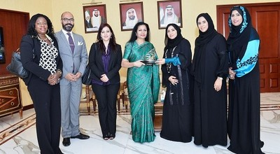 Her Excellency Maryam Mohammed Al-Rumaithi, Chairwoman of the Emirates Business Women Council and Chairwoman of the Executive Board of the Abu Dhabi Business Women Council (ADBWC), emphasized on the importance of benefiting from the program of the UN on e