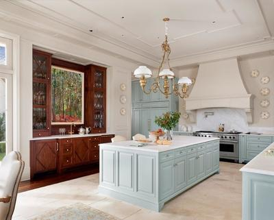Glamour and sophistication shine through with the use of different textures throughout a kitchen.