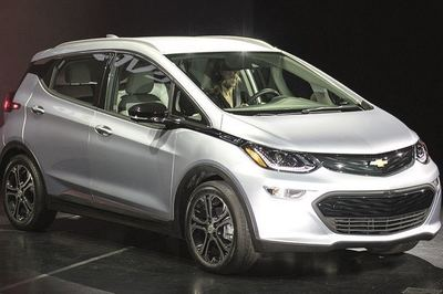 Nissan boss Carlos Ghosn is openly encouraging electric-car competition such as the new Chevrolet Bolt, pictured.