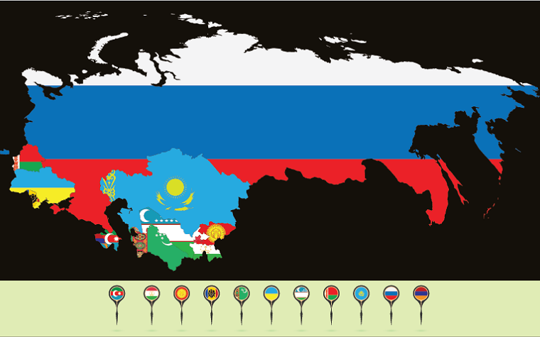 Map of CIS countries