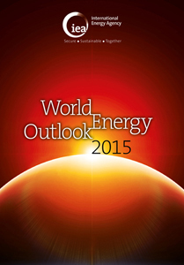 The cover of the World Energy Outlook 2015, from the International Energy Agency.