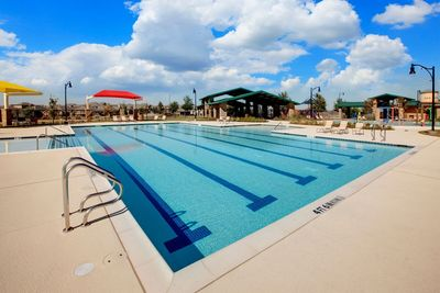 The Sunbright Activity Center boasts an impressive junior Olympic swimming pool as well as a spray park.