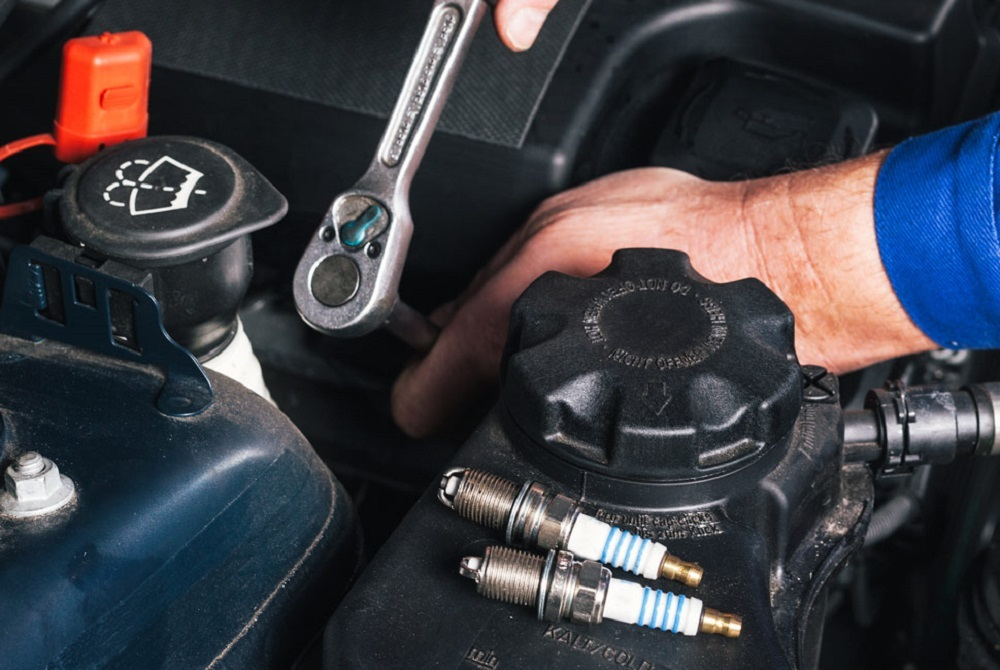 If there's no damage on your spark plugs, put them back in their cylinders.