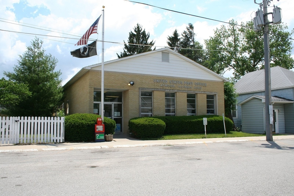 Atwood Post office, a city where residents are projected to experience a $384,093 tax increase.