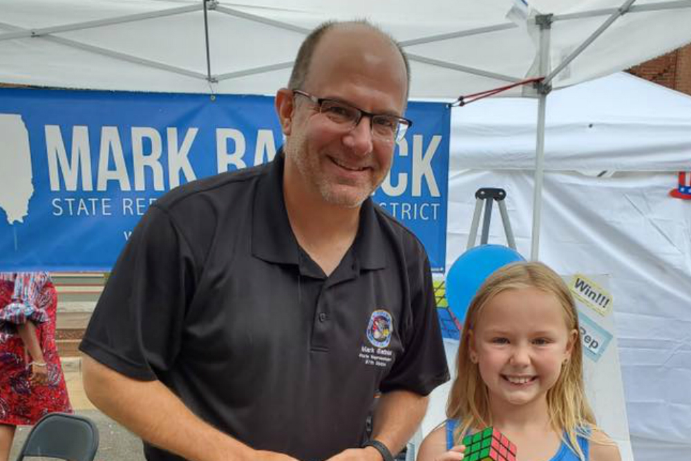 Rep. Mark Batinick with youngest winner, Brooke.