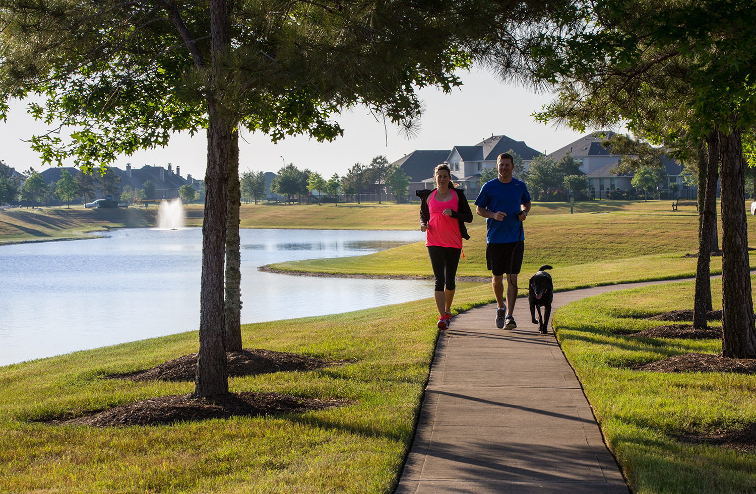 Summer Lakes and Summer Park are near the Brazos Town Center and feature amenities including walking trails, lakes, clubhouse, resort-style pool and more.