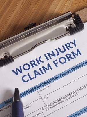 Large work injury claim form
