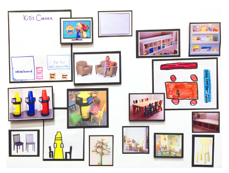 Ideas were submitted by the Schachtel children for an improved ICU waiting room.