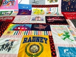 T-shirts can be preserved—along with memories—in an upcycled quilt.