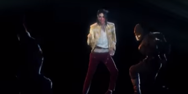 Large michael jackson hologram