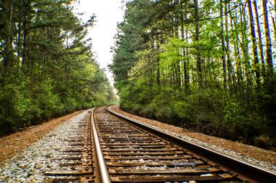 The Houston-to-Austin railroad runs through manor.