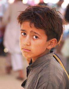 A young refugee