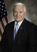 Pennsylvania Gov. Tom Corbett praises New Hudson Facades' plan to build a new facility in Delaware County and create 168 jobs.