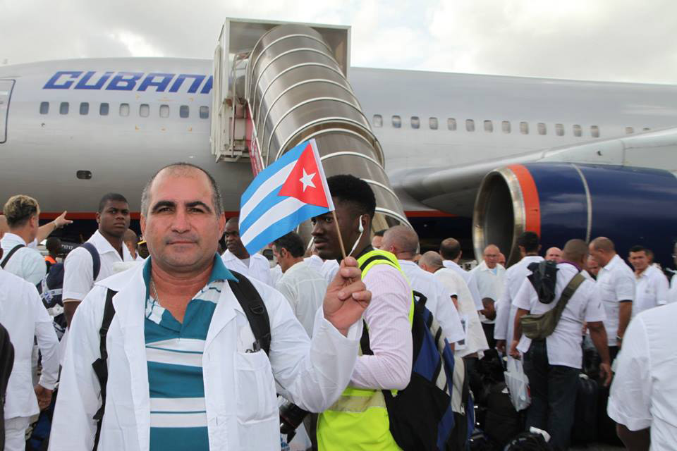 Cuba sent a medical team to Sierra Leone to help end the spread of Ebola.