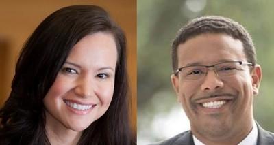 Republican Ashley Moody, left, and Democrat Sean Shaw