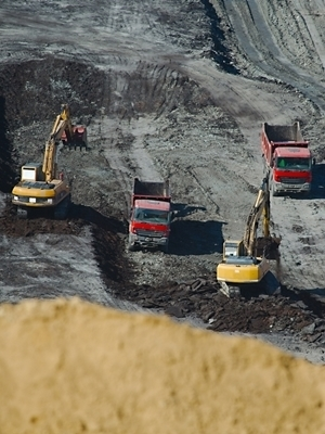 Large coal mining