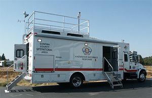 A hazardous materials response vehicle from E-N-G Mobile Systems.