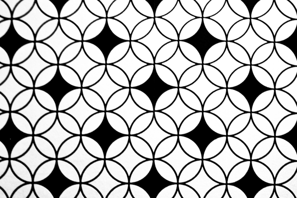 Geometric patterns are very popular with wallpaper these days.
