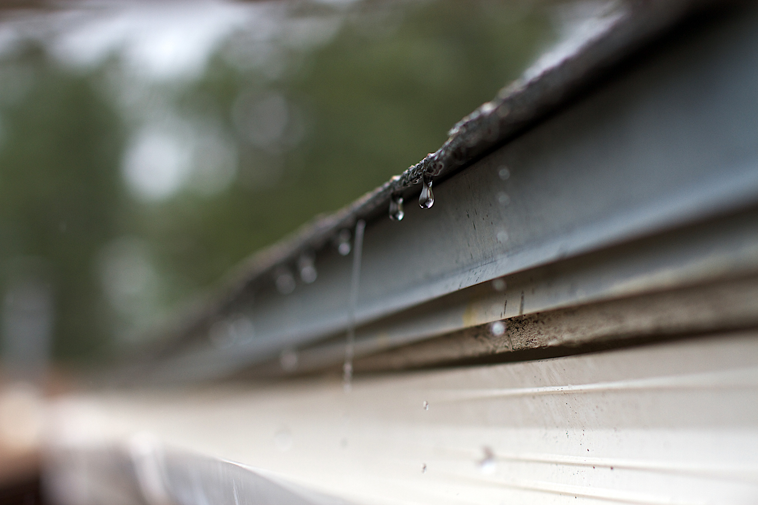 At this time of the year, rain gutters are getting a steady workout.