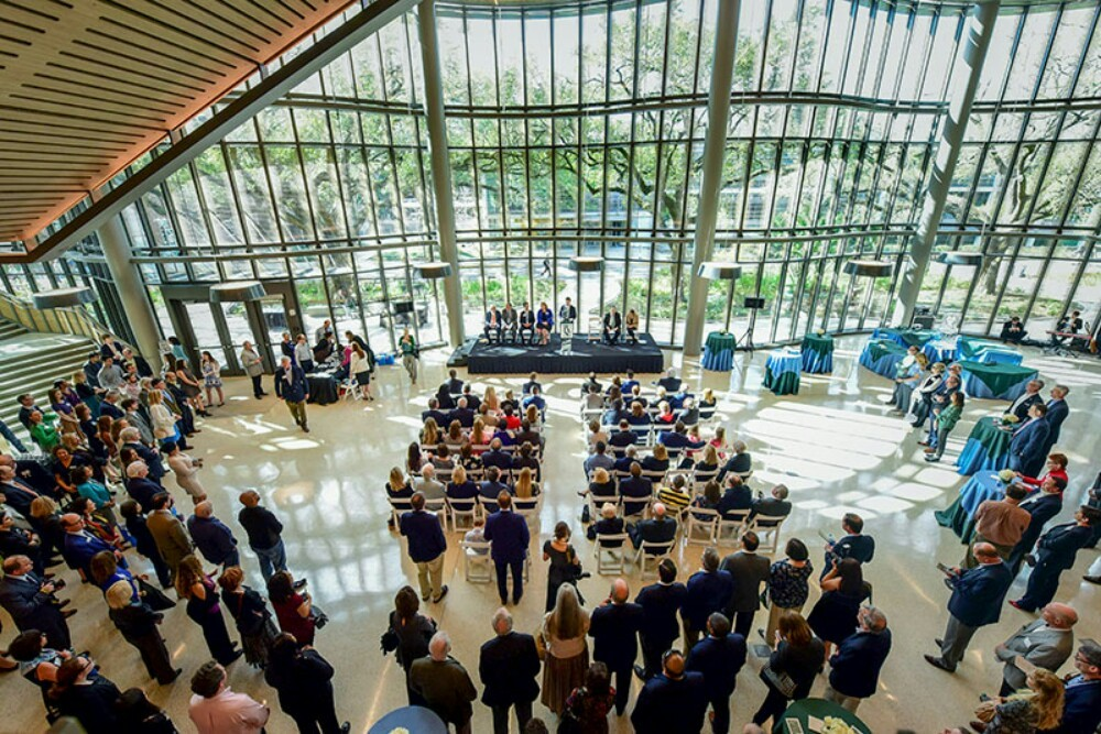 dedication ceremony of the Goldring/Woldenberg Business Complex at the A.B. Freeman School of Business