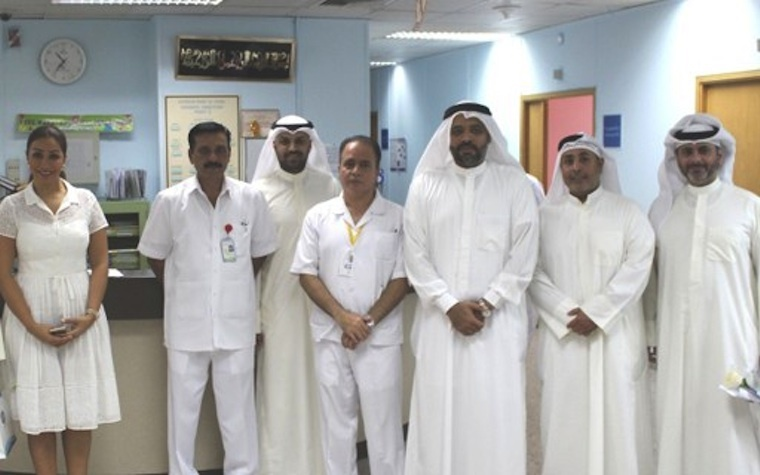 Equate representatives visit Kuwait Cancer Control Center.