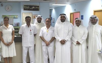 Equate representatives visit Kuwait Cancer Control Center.