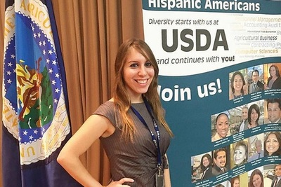Elizabeth Yepes, International Trade Specialist at USDA's Foreign Agricultural Service. Photo credit: Pedro Nieto, USDA