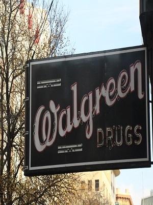Large oldwalgreensign