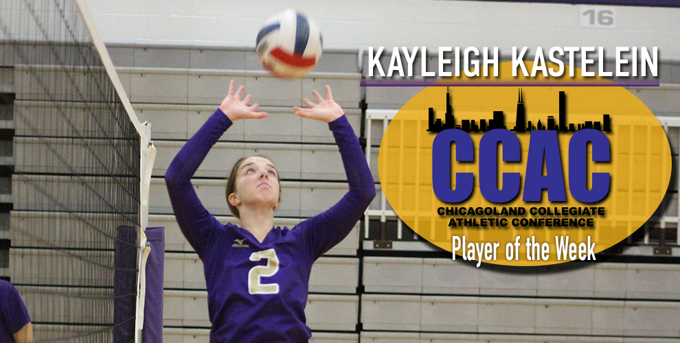 Kayleigh Kastelein was named the CCAC setter of the week recently.