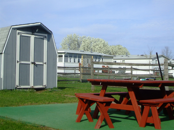 Backyard sheds can be a great way to clear up clutter in the yard.
