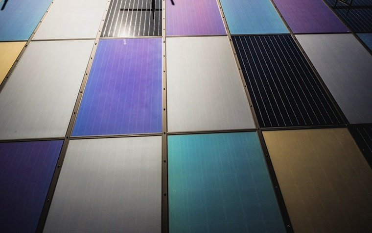 Colored solar panels from Emirates Insolaire