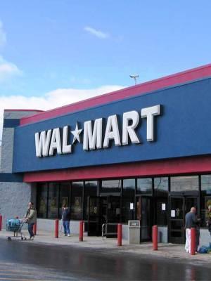 Large walmart exterior