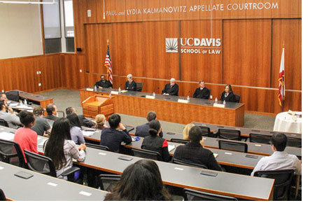 The California Court of Appeal for the Third District returned to King Hall's Kalmanovitz Appellate Courtroom.