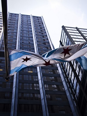 Large chicago flag