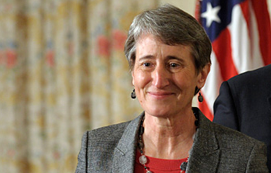 Secretary of the Interior Sally Jewell outlined the Obama administration's energy-policy agenda for the next two years.