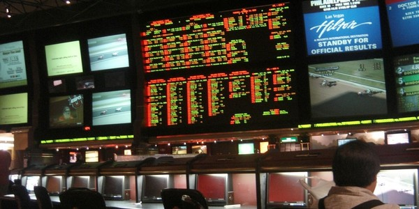Large sportsbook at hilton