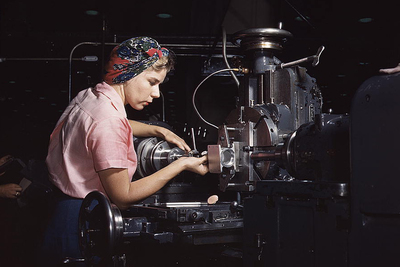 American industry ramped up out of necessity during World War II.