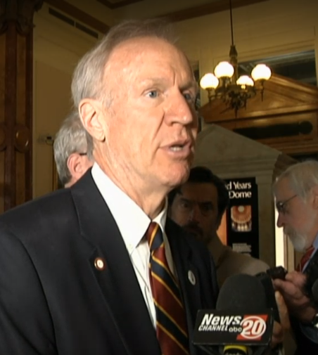 Gov. Bruce Rauner addressing media after Four Leaders Meeting Tuesday