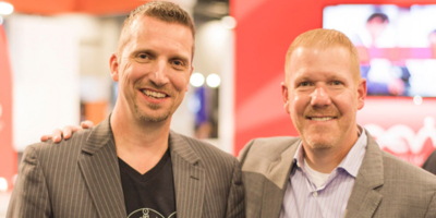 Mike Camerling, Director Marketplace at AEVI (left), and Scott DeAngelo, Senior Vice President, Product at Vantiv (right).