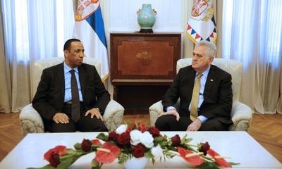 Serbian President Tomislav Nikolic met recently with Ambassador of the United Arab Emirates (UAE) to Serbia Juma Rashid Saif Zayed Al Dhaheri.