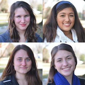 Transylvania's Fullbright semifinalists are Samantha Easterling, McKenzie Gearheart, Erin Marek and Courtney Smith.
