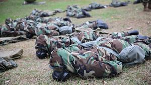Marines take part in CBRN training at Base Camp Lejeune, N.C.