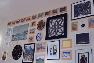 A gallery wall adds a splash of personality.