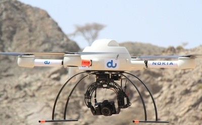 Nokia Networks and du are testing the use of drones.