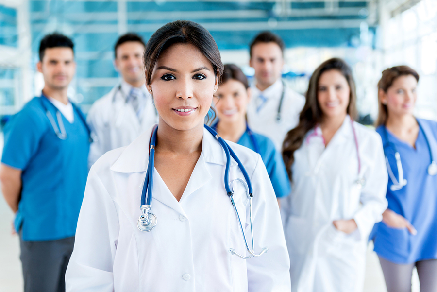 Hospital workers healthcare professionals