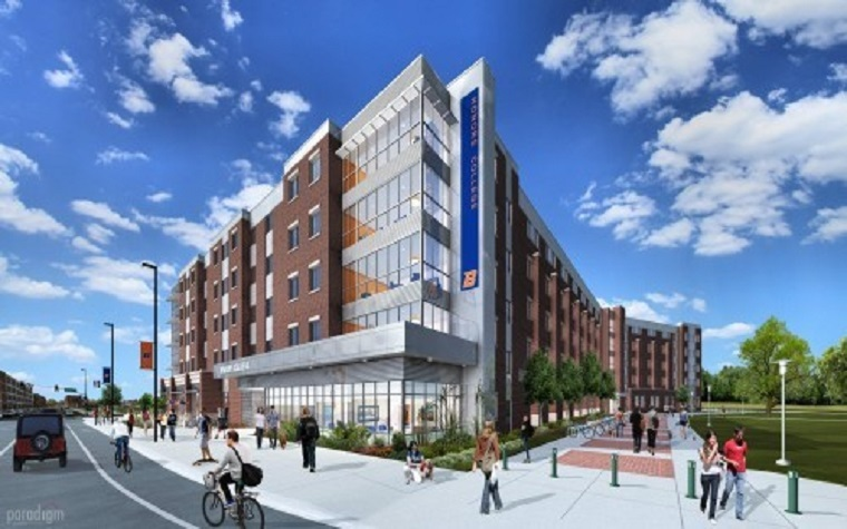 The facility will serve as an Honors College living and learning center, combining housing for 650 students with dining, classrooms and other services.