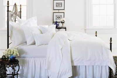 Feather Your Nest offers a number of high-quality bedding products including these sheets by Sferra.