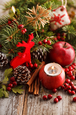 Berries, evergreens, pine cones and more can be used to lend festive touches to the home throughout the holidays.