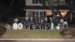 A Cheers to 80 Years display from January 2018